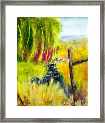 Bridge Over Small Stream Framed Print
