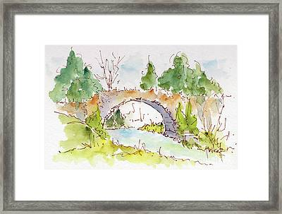 Bridge Over Spencer Creek Framed Print by Pat Katz