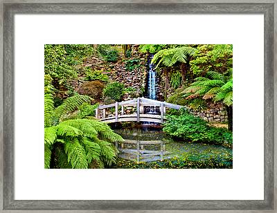 Bridge Over Still Water Framed Print