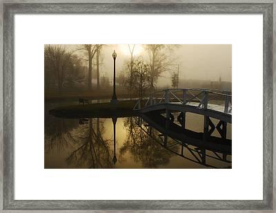 Bridge Over Still Waters Framed Print by Wayne Archer