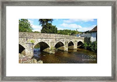 Bridge Over The Barle Framed Print by Stuart Attwell
