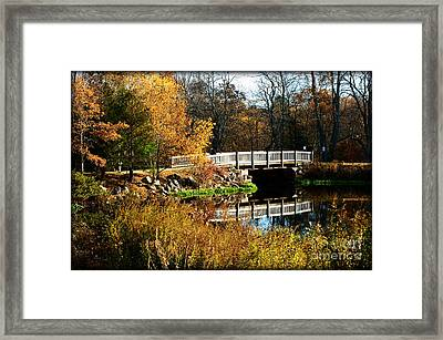 Bridge Over The Blackstone Canal Framed Print