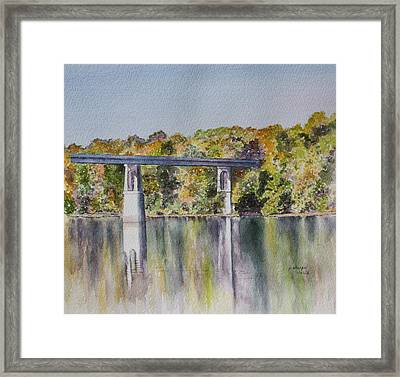 Bridge Over The Cumberland Framed Print by Patsy Sharpe