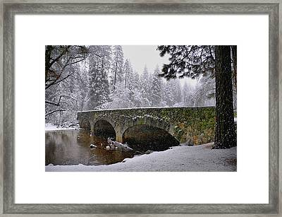 Bridge Over The Merced Framed Print by Frank Remar