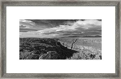 Framed Print featuring the photograph Bridge Over The Rio Grande by Gary Cloud