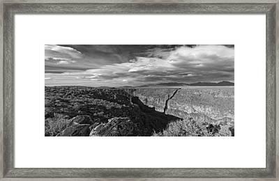 Bridge Over The Rio Grande Framed Print by Gary Cloud