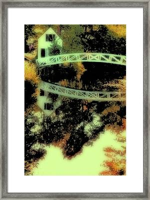 Framed Print featuring the photograph Bridge Over The River by Carol Kinkead
