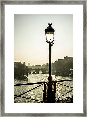 Bridge Over The Seine. Paris. France. Europe. Framed Print by Bernard Jaubert