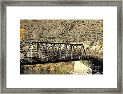 Framed Print featuring the photograph Bridge Over The Thompson by Ann E Robson