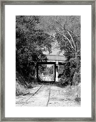 Bridge Over The Tracks Framed Print by Robert Wilder Jr