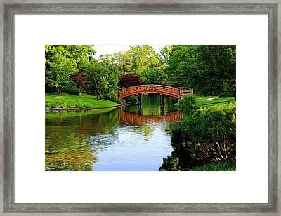 Bridge Over The Water Framed Print