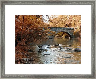 Bridge Over The Wissahickon At Valley Green Framed Print by Bill Cannon