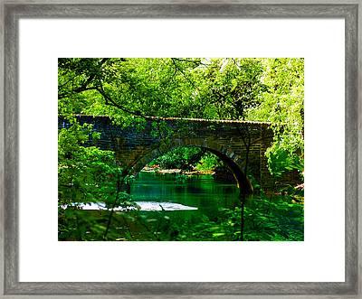 Bridge Over The Wissahickon Framed Print