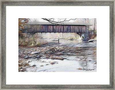 Bridge Over Troubled Waters Framed Print by EricaMaxine  Price