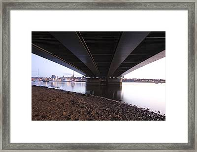 Framed Print featuring the photograph Bridge Over Wexford Harbour by Ian Middleton