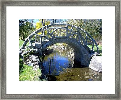 Bridge Park Framed Print by Emily Kelley