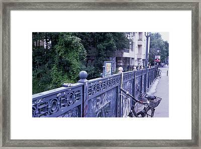 Bridge Railing Framed Print