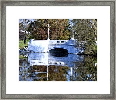 Framed Print featuring the photograph Bridge Reflection by Anne Raczkowski