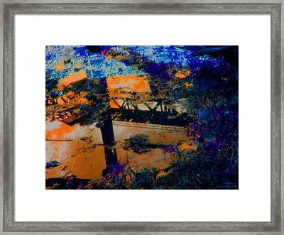 Bridge Reflection Framed Print by Safir  Rifas