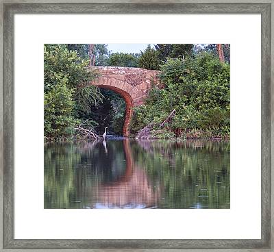 Bridge Reflections Framed Print