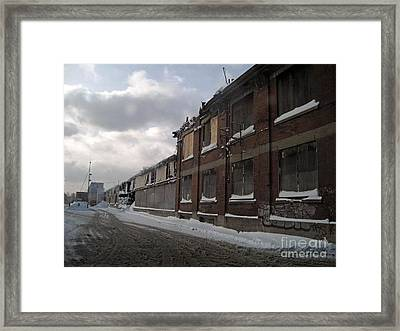 Bridge Street Decay Framed Print by Reb Frost