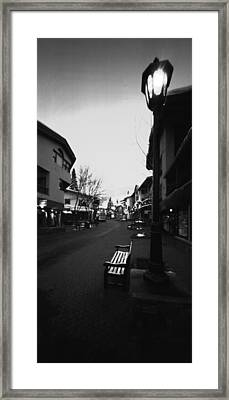 Bridge Street Vail Framed Print