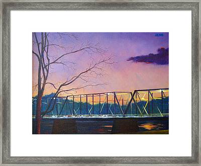 Bridge Sunset Framed Print