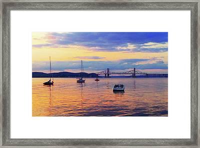 Bridge Sunset Framed Print