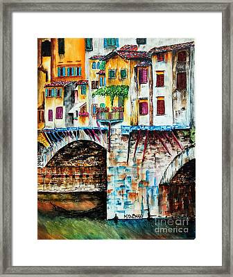 Bridge The Gap Framed Print by Maria Barry