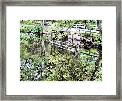 Bridge To Brookside Cemetery Framed Print by Elizabeth Dow