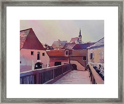 Bridge To Cesky Krumlov Framed Print