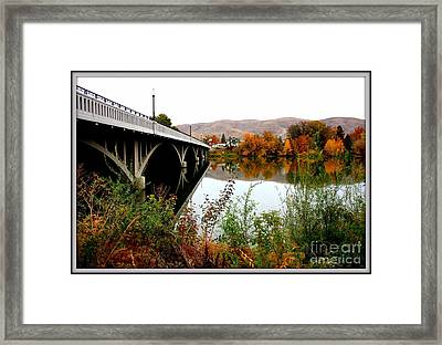 Bridge To Downtown Prosser Framed Print by Carol Groenen