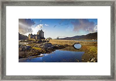 Bridge To Eilean Donan Framed Print by Gary Eason