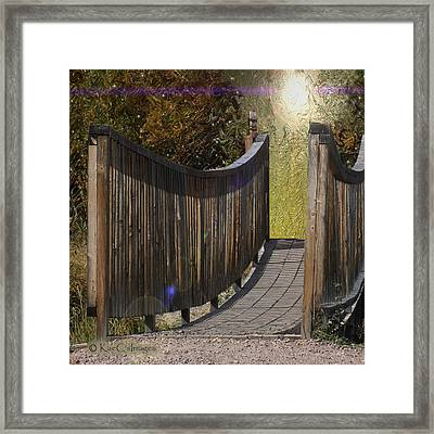 Bridge To Forever Framed Print