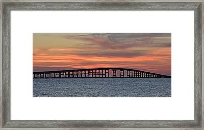 Bridge To Hatteras Framed Print
