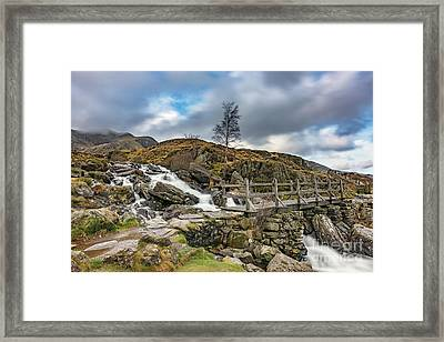Bridge To Idwal Lake Framed Print