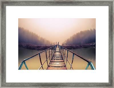 Bridge To Infinity Framed Print by Okan YILMAZ