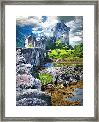 Bridge To The Castle Framed Print
