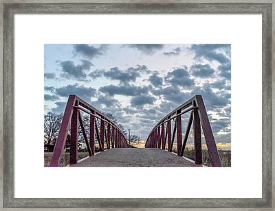 Bridge To The Clouds Framed Print