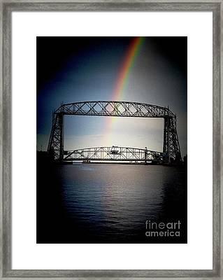 Somewhere Over The Lift Bridge Framed Print by Mark David Zahn Photography