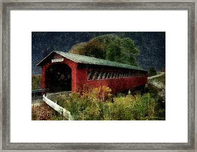 Bridge To The Past Framed Print by RC deWinter