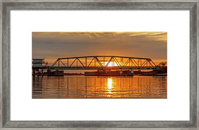 Bridge To Tranquility  Framed Print by Betsy Knapp