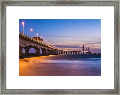 Bridge To Wales Framed Print