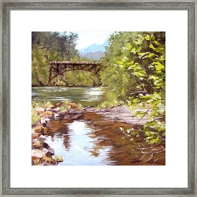 Bridge View Framed Print