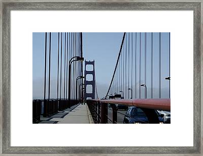 Bridge Walk Framed Print by Sonja Anderson