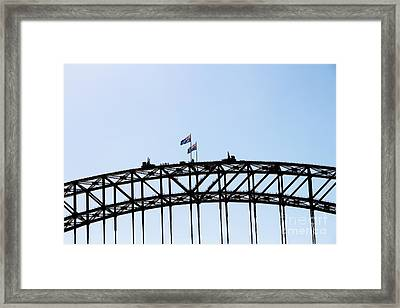 Framed Print featuring the photograph Bridge Walk by Stephen Mitchell