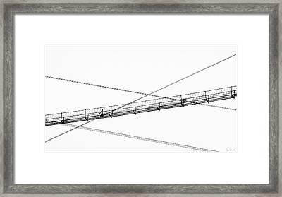 Framed Print featuring the photograph Bridge Walker by Joe Bonita