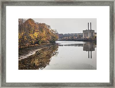 Bridgeport Factory Framed Print by Lora Lee Chapman