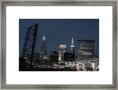 Bridges And Buildings Framed Print