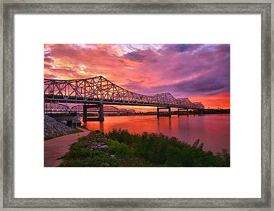 Bridges At Sunrise II Framed Print by Steven Ainsworth